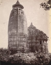 Rear view of the Vamana Temple, Khajuraho
